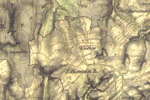 Historická mapa Kudlova