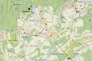 Turistická mapa Kudlova